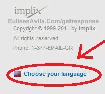 cambiar el lenguaje del autoresponder getresponse
