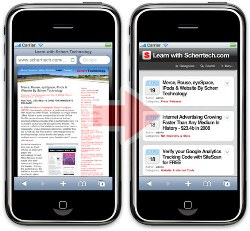 comparativa de antes ydespuésde utilizar Wp Touch Pro