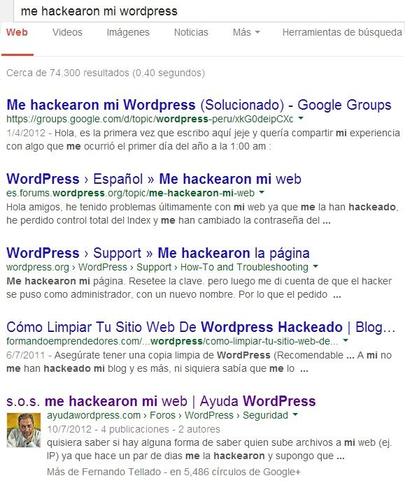 hackearon mi web de wordpress