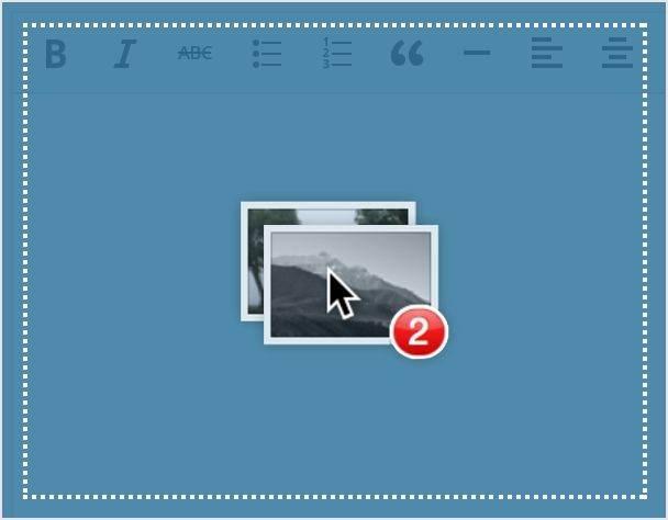 arrastra y suelta las imagenes en wordpress