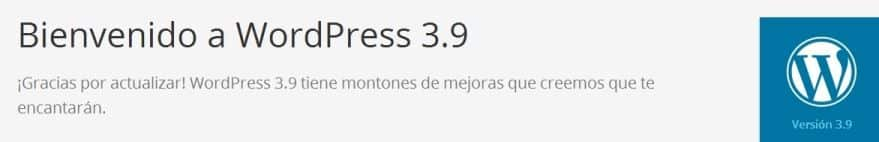 bienvenidos a wordpresss 3.9