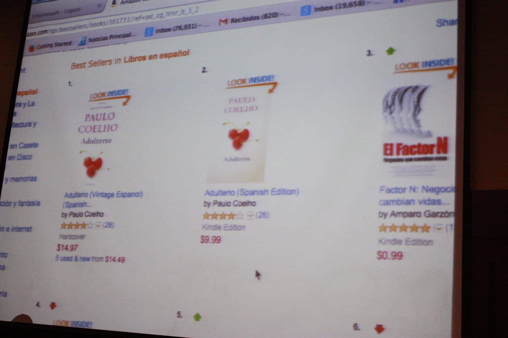 Libro Best Seller Factor N Negocios Los Maestros del Internet 2014