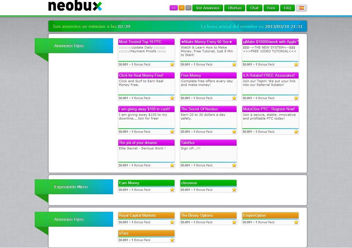 anuncios neobux